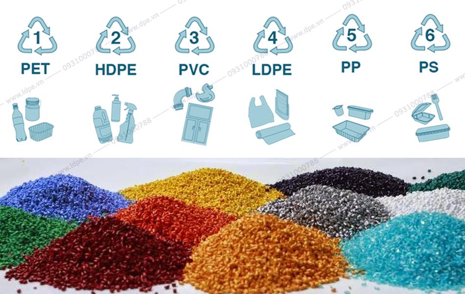 Hạt nhựa tái chế phổ biến