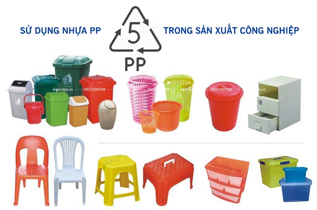 Hạt nhựa PP trong sản xuất công nghiệp